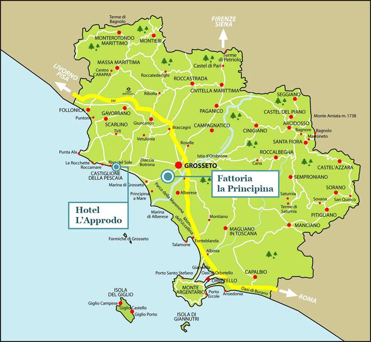 Cartina Costa Tirrenica Toscana.Il Territorio Maremma Toscana Le Spiagge I Parchi Sport E Relax I Borghi Arte E Costumi Maremma Toscana